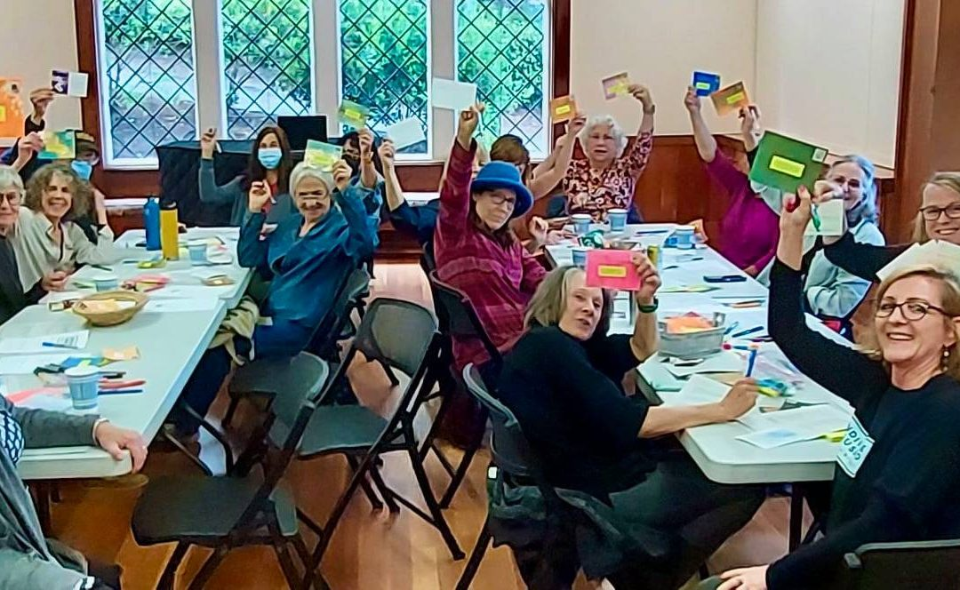 POSTCARD PARTY WITH INDIVISIBLE SAUSALITO